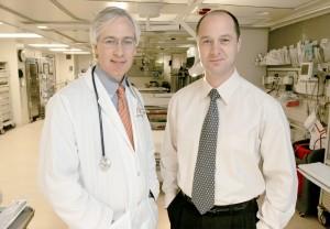 Dr. Tom Devlin, left,  Medical Director, with Dr. Blaise Baxter, Chief of Interventional Radiology, of the Erlanger Southeast Regional Stroke Center.