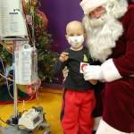 Children's Hospital at Erlanger patient, Gabriel Singleton, age 3, from Dalton, Ga., visits with Santa.