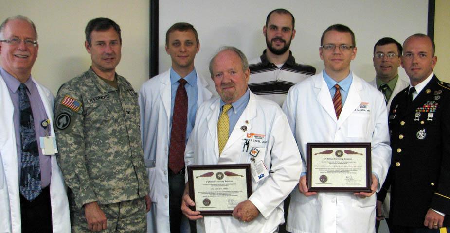 U.S. Army medical representatives visit Erlanger Health System