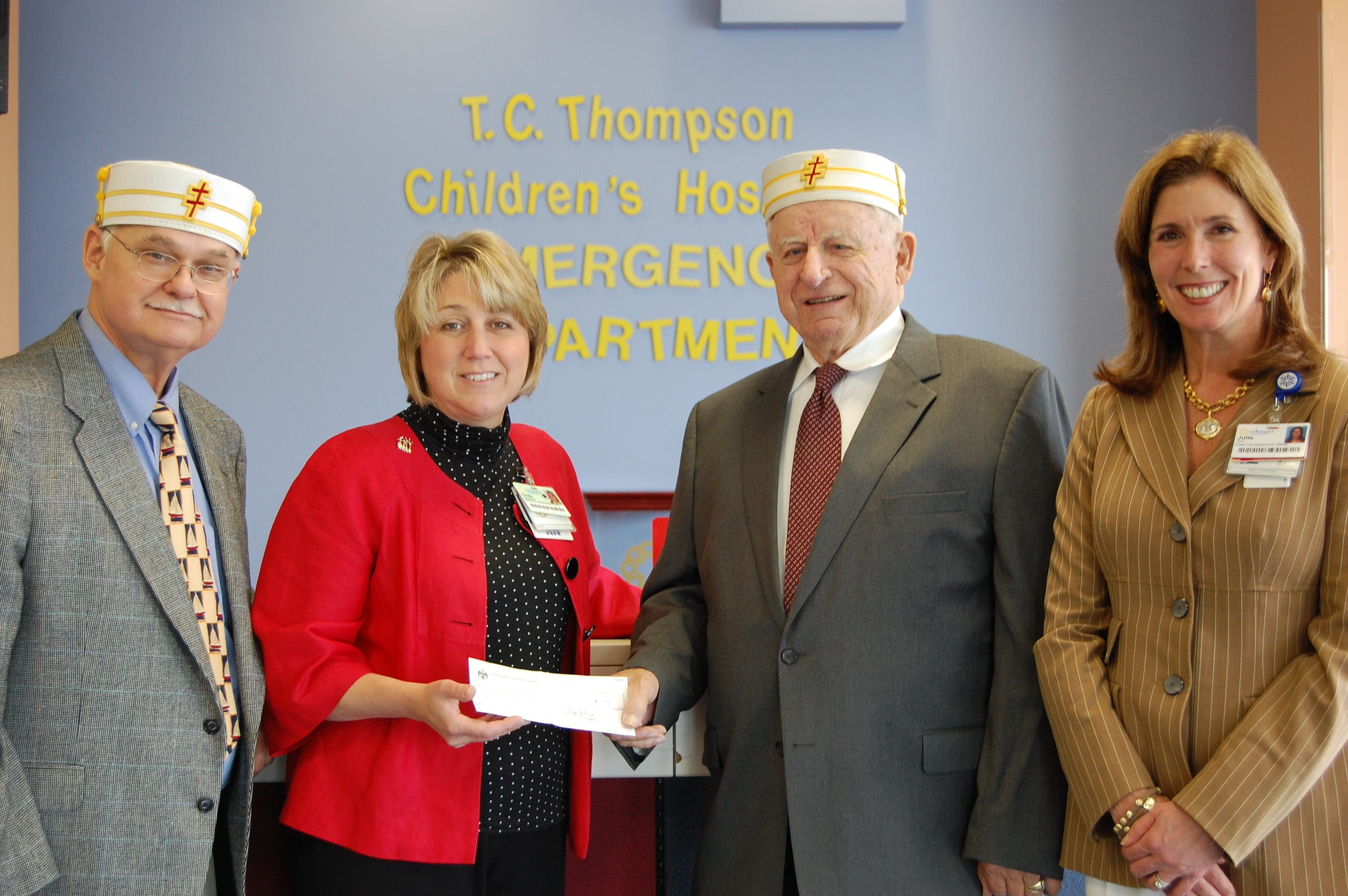 Scottish Rite of Chattanooga donates $3,000 to Children's Hospital
