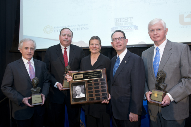 Erlanger honors Sen. Bob Corker, Drs. Cofer and Brown at annual Dinner of Distinction