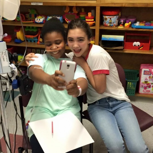 Disney's Rowan Blanchard visits Children's Hospital at Erlanger