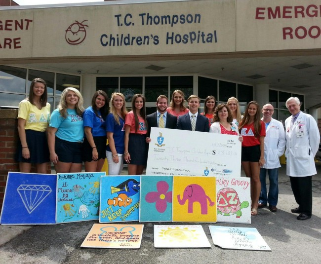 UTC fraternities and sororities raise over $23,000 for Children's Hospital at Erlanger