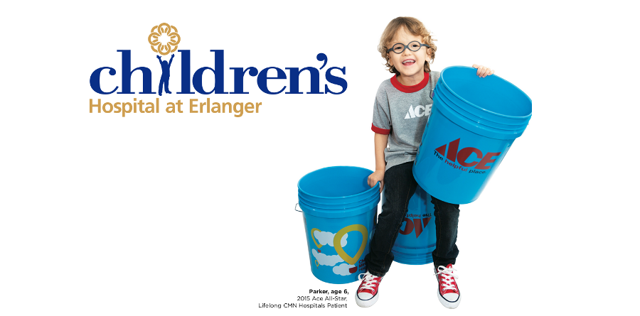 Participating Ace Hardware stores host One-Day Bucket promotion for Children's Hospital at Erlanger