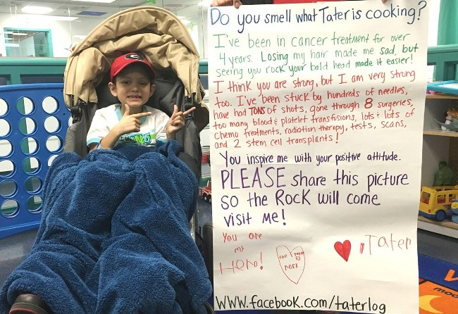 Help Tater Meet 'The Rock'