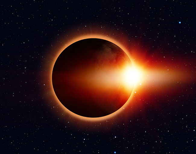 """It's a total eclipse of…"" the sun"
