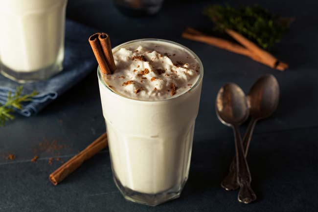 Healthy Recipe: Creamy eggnog shake
