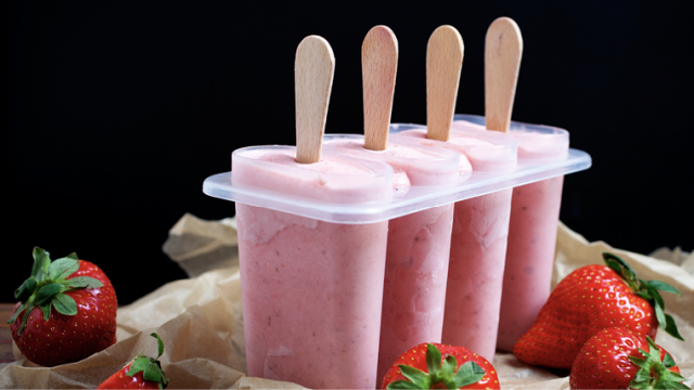 Healthy Recipe: Strawberry Banana Pops