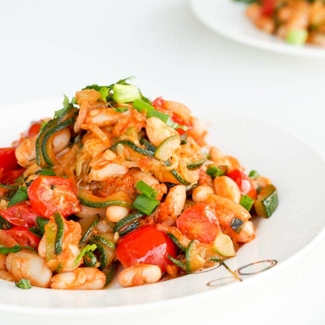 Healthy Recipe: Zucchini Ratatouille With Sun-Dried Tomatoes and White Beans